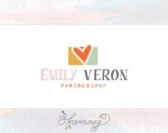 Custom, Premade, Heart Camera Logo Design, Photography Logo