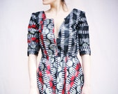 Hand Made 1990's Vintage Fabric Cotton Dress