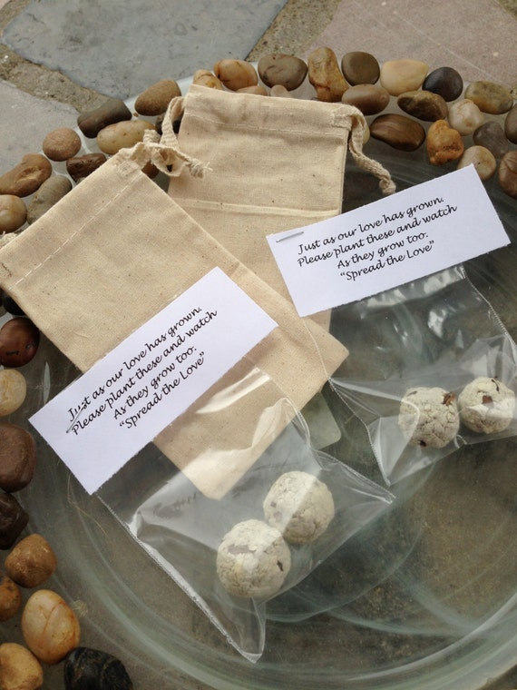 flower seed wedding favors items similar to flower seed bomb favors filler only 4208