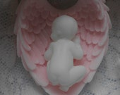 10 Sleeping Baby in Angel Wings Soap for Baby Shower or Baptism