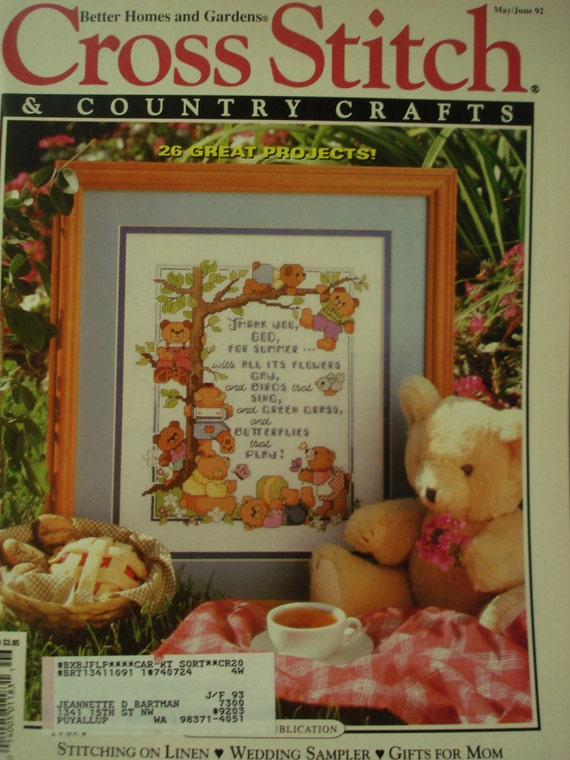 Items similar to cross stitch country crafts magazine for Country living magazine cross stitch