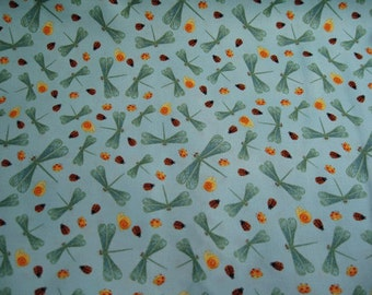 Dragon fly print fabric - half yd