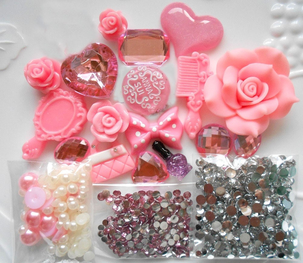 Sale -- DIY 3D Kawaii Resin Flat Back Decoden Cabochons Cell Phone Case Deco Kit from ...