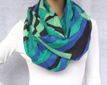 geometry infinity scarf women spring scarf