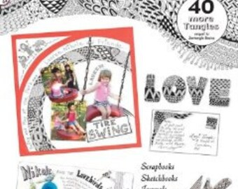 Zentangle 2, 40 Tangle Patterns, Examples and Instructions, Design Originals