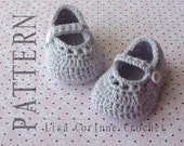Crochet Baby Booties Patterns, Baby Mary Jane Shoes, Crochet Baby Shoes PATTERN, Baby Girl Shoes, Infant Booties