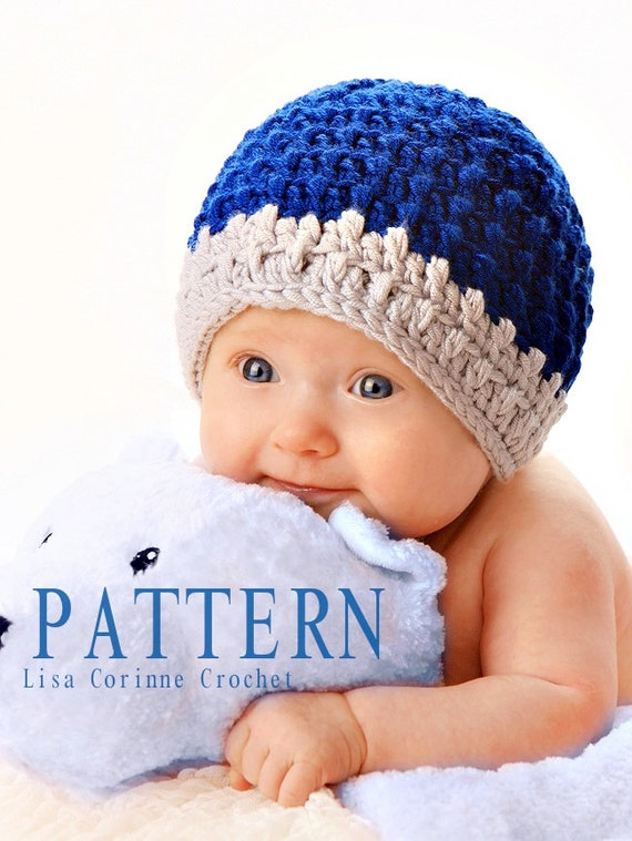 Crochet Stitches Baby Hats : Baby Boy Hat Crochet Pattern, Baby Beanies Hat, Baby Boy Beanie Hat