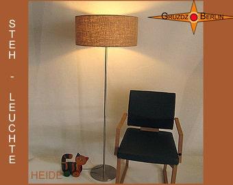 Floor lamp of  burlap HEIDE natural jute floor lighting