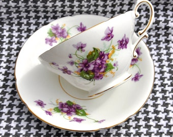 Chintz China Teacup and Saucer by Stanley Bone China