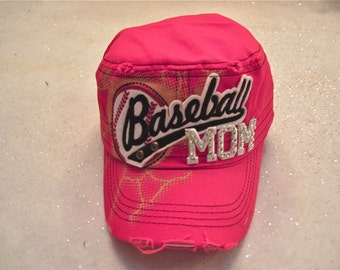"Baseball Mom Cap  "" Team Spirit """