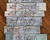 Wood Pallet Art - Bible Verse Series Proverbs 31