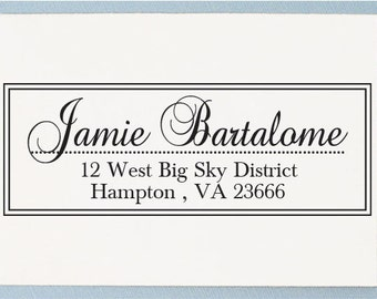 Personalized Return Address Stamp - Custom Address Stamp - Old English Style - AS04
