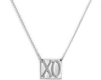 XO Necklace in sterling silver.