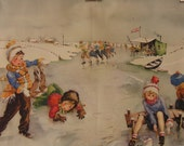 Vintage Watercolor School Classroom Chart, Story Print : Winter time Skating