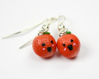 Orange Fruit Earrings
