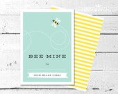 Bee Mine Bumble Bee Personalized Valentine Card - The Celebration Shoppe