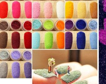 12 colors Handmade & Nail Art Decor 3D Velvet Flocking Powder Dust Polish stickers Set 8g