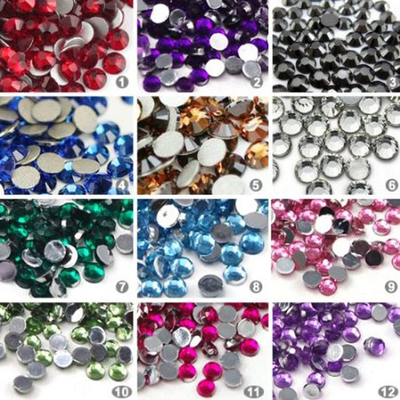 3000 pcs 3d flatback acrylic rhinestones stickers for craft