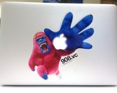 The Power of Pink Gorilla - Stickers for MacBook