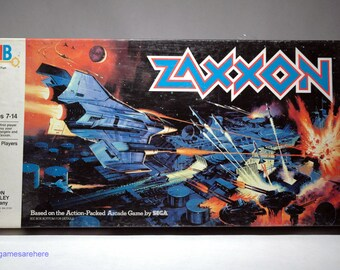 Zaxxon Board Game from Milton Bradley 1982 COMPLETE (read description)