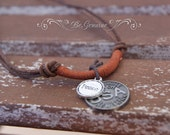 Simple MEN Necklace - Leather Cord - Rustic