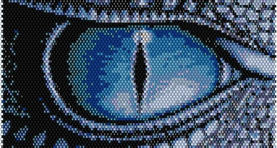Dragon Eye Peyote Brick Stitch Bracelet By Creationsofagape