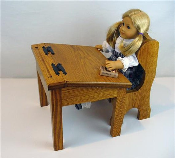 American Girl Doll Furniture School Desk and by