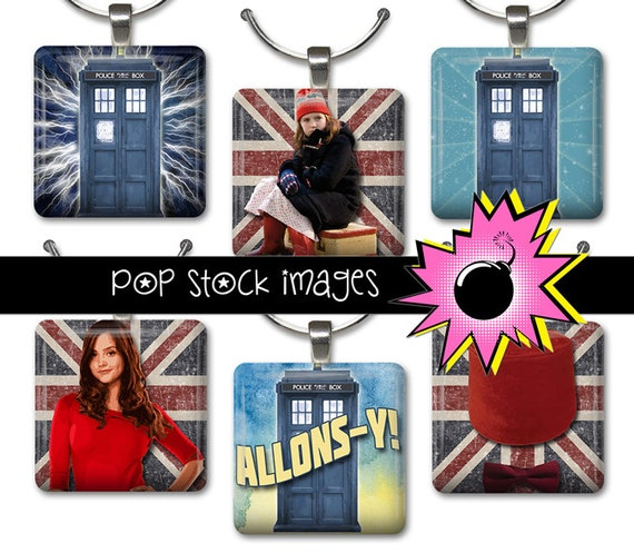 1 Inch Squares DOCTOR WHO Collage Sheet - Printable for Pendants, Magnets & Wine Charms - Dr Who Inchies Instant Download