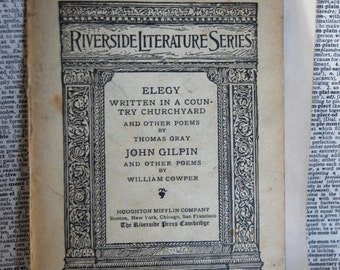 Vintage Book, Elegy by Thomas Gray