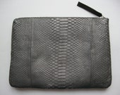 Genuine Snakeskin Leather Clutch Pouch Bag iPad Sleeve Case