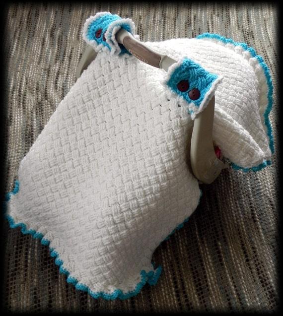 Woven Car Seat Canopy Cover Crochet Pattern In Pdf