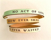 No Act of Love... Aesop   Daily Reminder Leather wrap bracelet