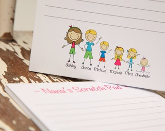 Set of 2 Grandma Notepads Stick People by Swell Printing