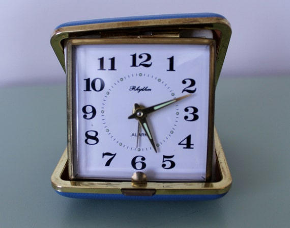Rhythm Brand Vintage Travel Alarm Clock By Pinupdesires On