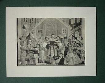 Original 1946 Facade Ballet Print - Ballerina - Theater - Dance - Show - Dancer - Dancing - Studio -  Stage Play - Theatre - Sadles Wells