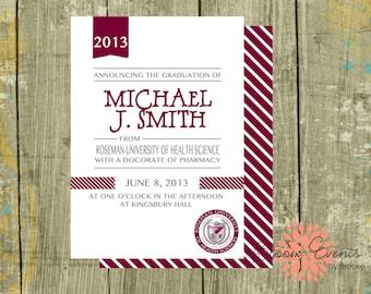 Graduation Announcement - Printable -