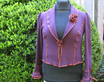 Aubergine 9 to 5 Tail Coat / recycled cotton Jacket