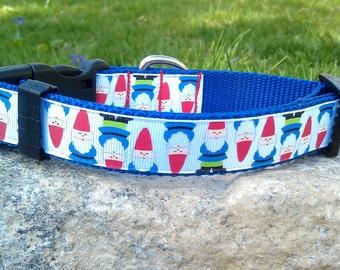 Gnomes 1 Inch Width Dog Collar