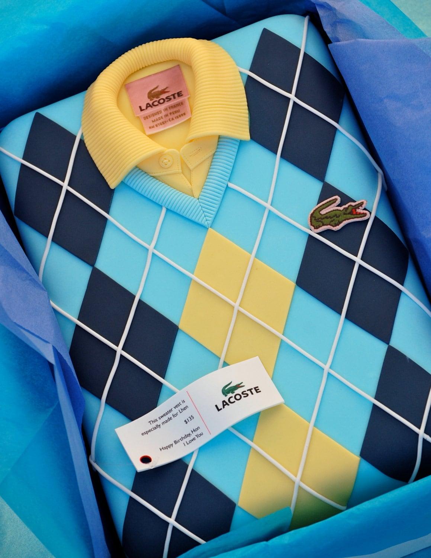 Shirt design cake -  Zoom