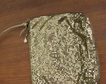 Whiting and Davis Gold Metalic Purse