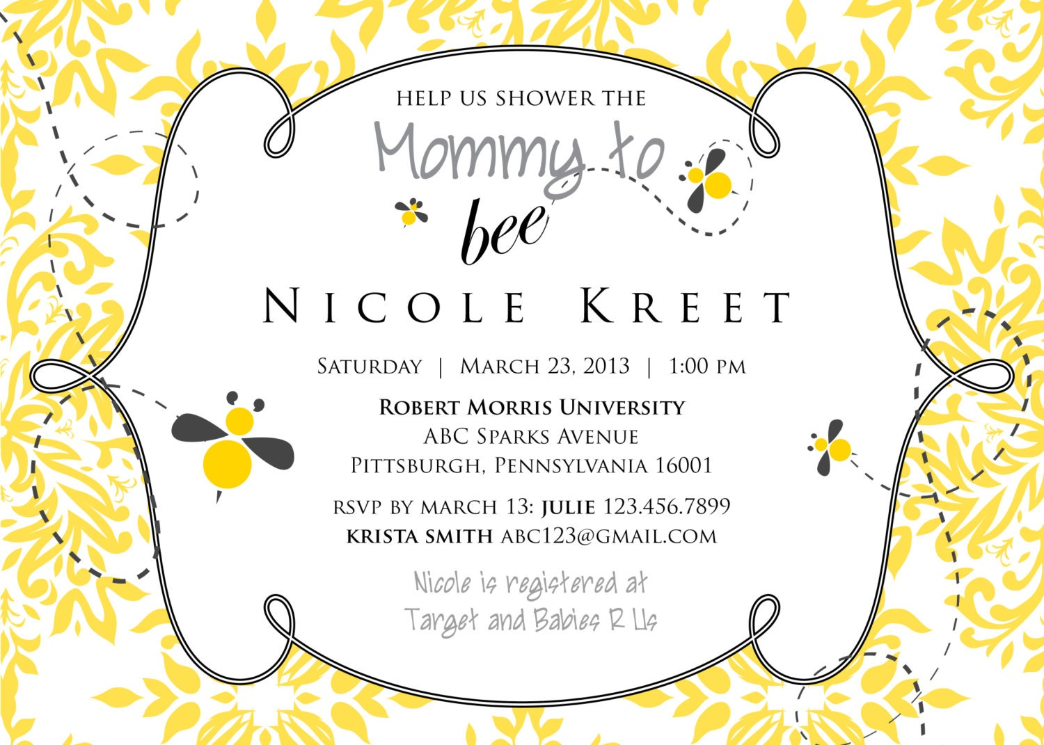 Mommy To Bee Invitations was amazing invitation ideas