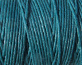 5 Yards Teal 4 ply Irish Waxed Linen Thread