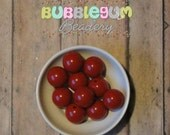 24mm Red Solid Bubblegum Beads