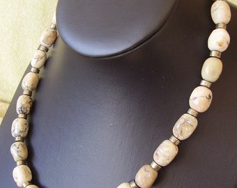 OPAL And PYRITE NECKLACE For Men