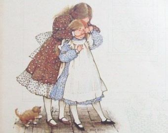 Vintage Holly Hobbie Print Friendship 1970s 8x10