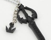 Kingdom Hearts Friendship Oblivion and Oathkeeper Keyblade Necklace or Keychain