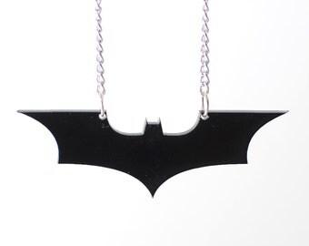 Batman The Dark Knight Symbol Necklace or Keychain