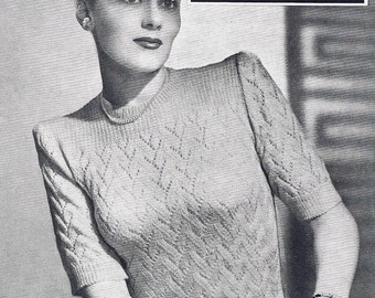 1940s Vintage Knitting Patterns - PDF Copy of Sun-glo Knitting Booklet Series 98