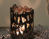 Key Votive, Tea Light , Key Light,  Metal Sculpture, Tea Light Holder