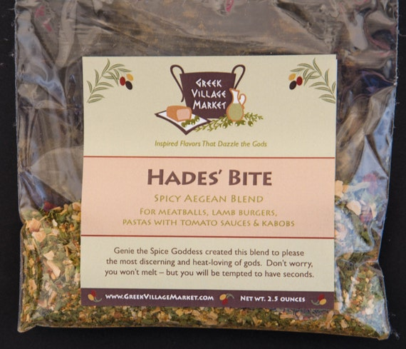 Hade's Bite Spicy Aegean Blend for Meatballs, Lamb Burgers and more.